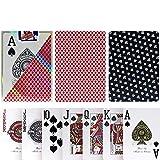 TX GIRL Juego De Tarjetas De Plástico Texas Hold'em Esmerilado Antideslizante Impermeable Lavable De PVC Poker Club Palabra Grande Juego De Mesa Casino Poker ¿1 Cubierta (Size : 777 Red)
