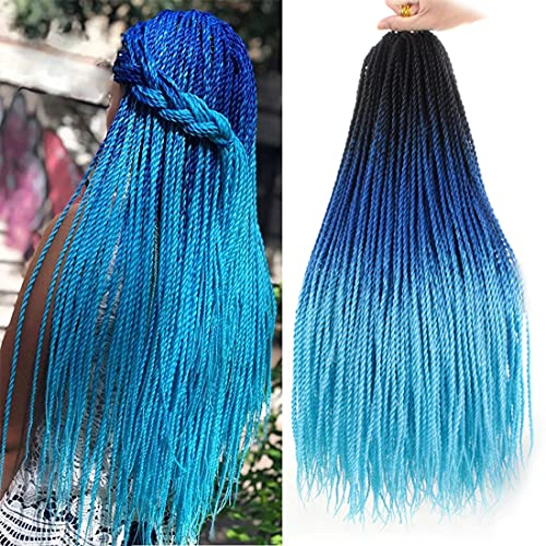 Ombre Color Crochet Hair Braids 24 Inch Senegalese...