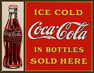 COKE Sold Here in Bottles Tin Sign 16W x 12.5H , 16x13