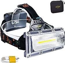 Headlamp, LETOUR 8000 Lumen Rechargeable Headlamp, COB High Bright LED Headlights..
