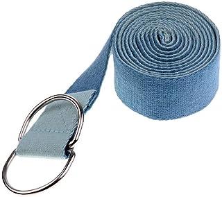 183Cm Yoga Stretch Strap D-Ring Training Adjustable Waist Leg Exercise Bands Blue