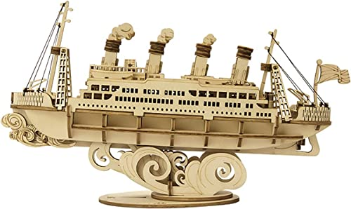 popular Rolife 3D Wooden Puzzle Wood Ship Model Gift for 2021 Kids high quality Adults(Cruise Ship) outlet online sale