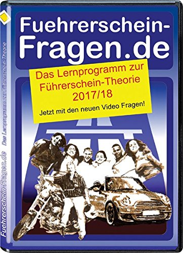Fuehrerschein-Fragen.de 2017-18, 1 DVD-ROMDas Lernprogramm zur Führerschein-Theorie vertont mit virtueller Sprecherin. Mit den neuen Video-Fragen. 429 Min.