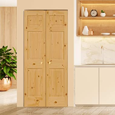 3 Panel Colonial Double Hip Knotty Clear Pine Interior Door Slab (18x80)