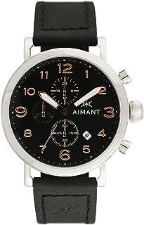 Rotterdam Cronograph Watches   44 MM Men's Analog Watch   Leather