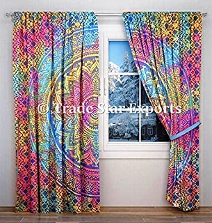 Trade Star Indian Tie Dye Curtain Ombre Tapicería Tapicerí
