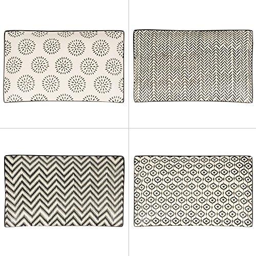 Table Passion - Plat rectangle le cap 28 x 17 cm (1 modèle aléatoire)