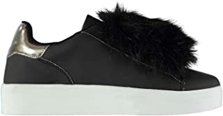 Fabric Cassie Mary Jane Shoes Womens Black Athleisure Trainers Sneakers