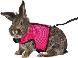 S Fdit Pettorina per Animali di Piccola Taglia e guinzaglio Pettorina per Conigli Morbidi con Cinturino di trazione per Allenamento con deambulatore per Coniglio Piccoli Animali