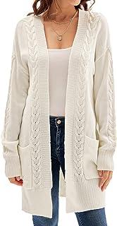 Women's Long Sleeve Cardigan Sweaters Loose Lightweight...