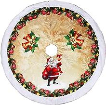 Xmas Tree Skirt 38 Inch Santa Pattern Tree Skirt Christmas Tree Skirt Christmas Home Decorations Seasonal Décor (Color : B...