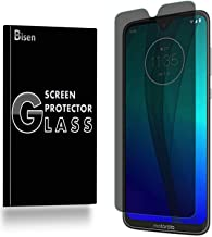 [BISEN] Fit for Motorola Moto G7 Plus Privacy Screen Protector Tempered Glass, Anti-Spy Screen, Anti-Scratch, Anti-Shock, Bubble Free, Lifetime Protection & Replacement