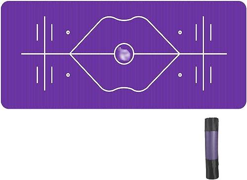 JianMeiHome Tapis de Yoga Débutants 10mm allongé épaissie Position élargie Assistée Ligne Tapis de Yoga antidérapants pour Hommes Dames Fitness Tapis
