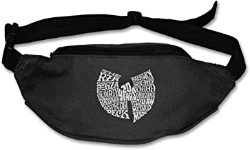 Fanny Pack For Women Men WU Tang Clan 20 Years Anniversary ODB Brooklyn Zoo Hip Hop Legends 90's 36 Chambers Music Waist Bag Pouch Travel Pocket Wallet Bum Bag For Running Cycling Hiking Workout
