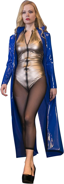HYF Women's Sexy One Piece Thong Bodycon Stand Collar Clubwear