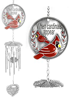 red cardinal wind chimes