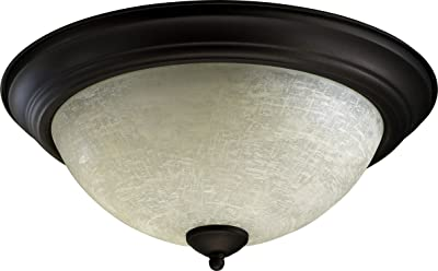 Home Impressions 15 In Oil Rubbed Bronze Incandescent Flush Mount Ceiling Light
