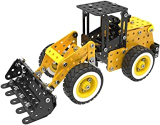 Alluing Lorry Loader Digger Set 332 pcs Car Model 3D Puzzle Kid Toy STEM Education Toy (As shown)