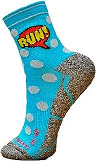 Hoopoe Running Apparel, HOOPOE Calcetines Running Cómic, Hombres, Mujer, Divertidos, sin Costuras, Térmicos, Comic, Talla 36-40