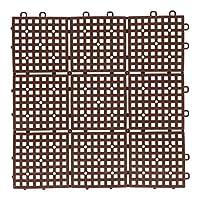 コーナン オリジナル パッチングデッキ 約 30 × 30cm ブラウン ジョイントマット ジョイントデッキ フロアデッキ 水はけ ベランダ コーナン ブラウン