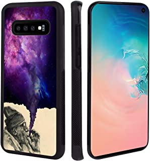 Tire Cell Phone Case Compatible with Samsung Galaxy S10+ [6.4in] Smoking Old Man