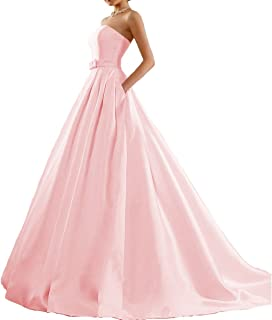 Fair Lady Women's Ball Gown Strapless Prom Dress Evening Party Formal Dresses