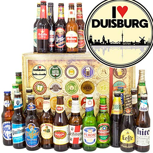 I love Duisburg + 24 Biere aus aller Welt + Geschenk Vater Duisburg + Weihnachtskalender für Ihn Bier
