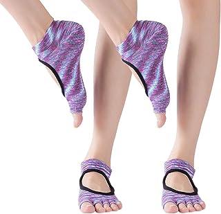 KINDOYO Grip Socks - Pilates Socks Open Toe Grip Non-Slip Soft Sole Yoga Socks for Women