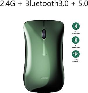 OYZK Ratón inalámbrico Bluetooth Mouse Recargable Ratón de ratón Silencio Mouse Ergonómico Mini USB Ratones ópticos for Ma...