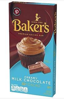 Baker's Milk Chocolate for Christmas Holiday Baking 2pk - 4oz/each Bar