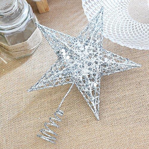 Bluelover Kerstboom topper ster kunststof kerstster boom topper voor Kerstmis tafeldecoratie kleurrijk handwerk DIY accessoires
