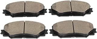 Brake Pad Set, 4 pcs Ceramic Car Rear Disc Brake Pad Set Fits for Toyota Corolla/Levin