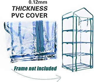 Homes Garden 4-Tier Shelves Mini Greenhouse Upgraded Replacement Cover Fit for Frame Size 27 in. L x 19 in. D x 63 in. H (Frame Not Included) #G-G304B00