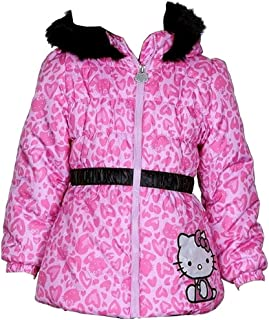 e7f1d7585 Hello Kitty Infant/Toddler Girl's HK033 Puffer Fleece Lined Winter Jacket ( Pink)