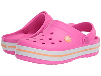 Crocs Kids Crocband Clog (Toddler/Little Kid) (Electric Pink/Cantaloupe) Kids Shoes
