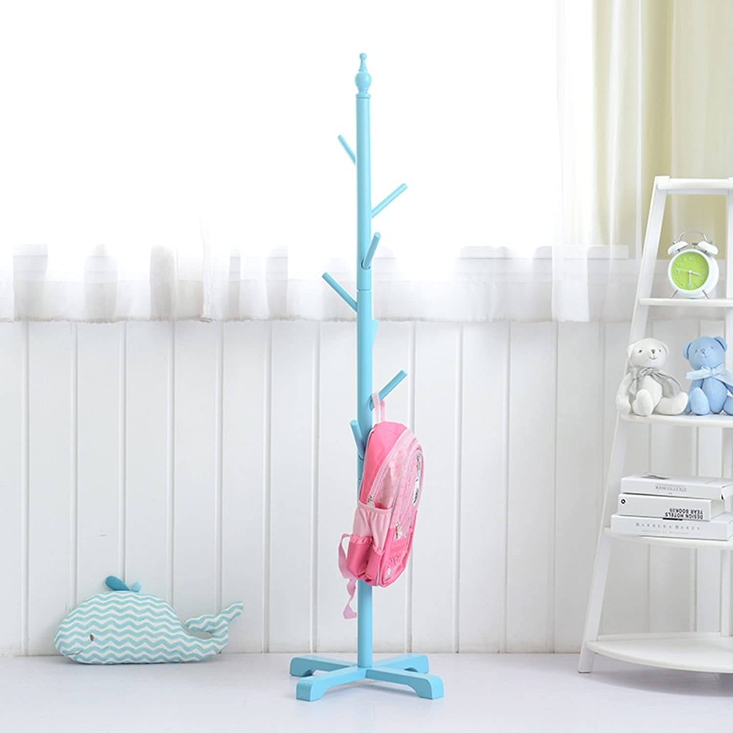 Coat Rack Creative Floor Hanger Household Clothes Rack European Simple   5 color Optional (color   bluee)