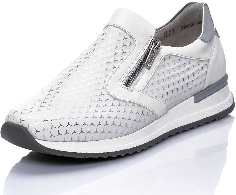 Remonte Women flat Slipper white, (weiss-silver weiss a) R7012-80