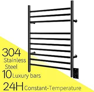 HEATGENE Hot Towel Warmer for Bath Hardwired Heated Drying Rack Matte Black