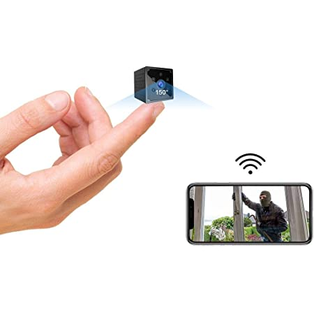 Spy Camera 4K HD Wireless Wifi Hidden Camera Micro Mini Spy Cam With Live Feed App Long Bettery Life Smallest Security Cameras Portable Nanny Cam Baby Monitor With Night Vision Motion Detection Alerts
