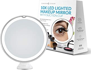 London Luxury 10X Magnifying Makeup Mirror | Lighted Makeup Mirror With 20 LEDs | 8