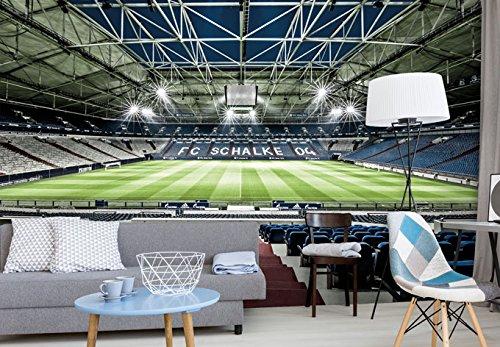 Schalke 04 XXL Tapete Fussball Fototapete S04 Veltins Arena Vliestapete Fußball Stadion Fanartikel 384 x 260 cm