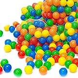 LittleTom 50 Balles de Jeu en Plastique 5,5cm Set de Balles colorées pour Enfants Chiots
