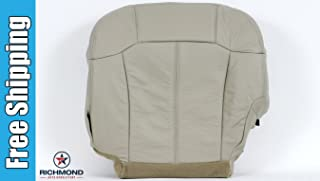Richmond Auto Upholstery 2000-2002 Chevy Suburban 1500 LT LS Z71 Driver Side Bottom Replacement Leather Seat Cover, Tan