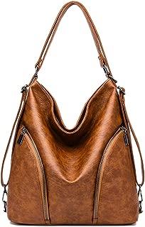 Mynos Women Handbags Ladies Purses PU Leather Shoulder Bags Hobo Totes Purses Fashion Backpack Purse