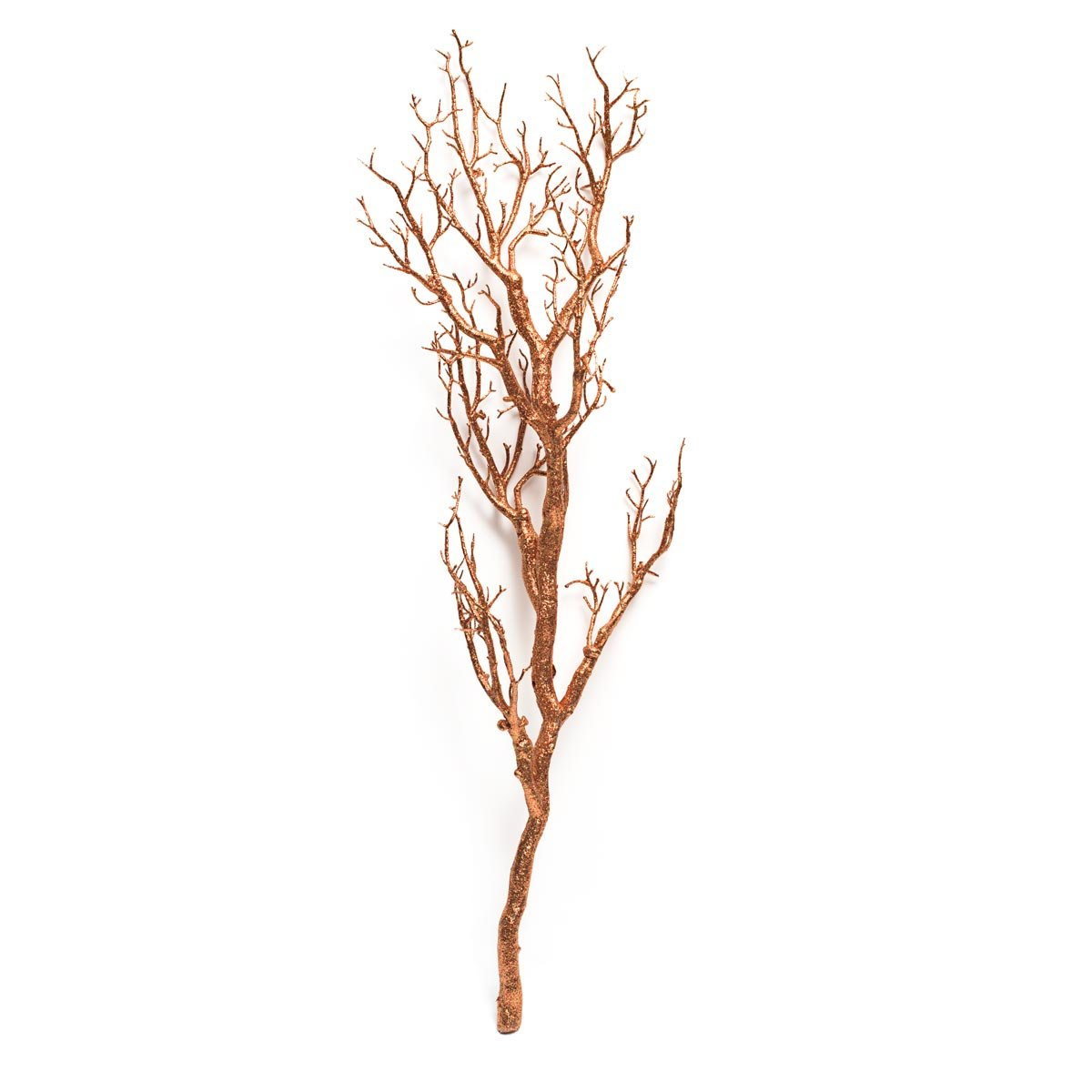 Anderson S Sparkling Copper Glitter Manzanita Decorative Tree Branch 47 Inches Long Home Kitchen
