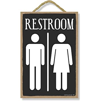 REST ROOM Farmhouse Style Wood Look Sign Gift   Metal Decor 106180028257