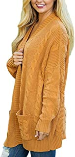 Mcuppe-Womens Open Front Long Sleeve Twist KnitCardigans Casual Sweater Oversize Coat with Pocket