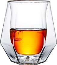Gootus Whiskey Glasses Set of 2 - Hand Blown Double Walled Glass with Premium Gift Box - Perfect for Scotch, Bourbon and O...