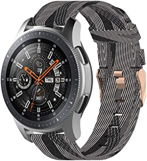CMIOUEO 22mm Nylon Band for Samsung Gear S3 Galaxy Watch 46mm,Quick Release Metal Strap for Amazfit Pace/GTR 47MM/Pebble T...