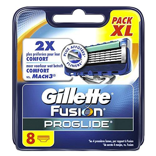 Gillette Fusion Proglide Lames de Rasoir pour Homme 8 Recharges